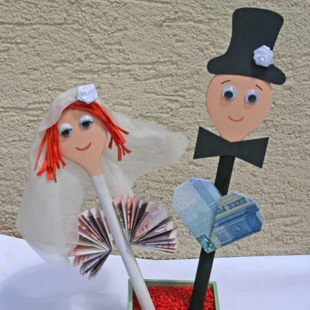 Fakanál jegyespár esküvőre, nászajándékba - Pénzajándék