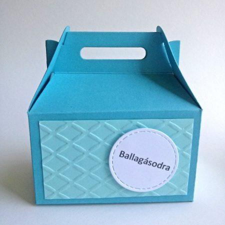 Papírdobozka ballagásra - kék doboz - pénz, meglepetés csomagolására ballagónak - Pénzajándék