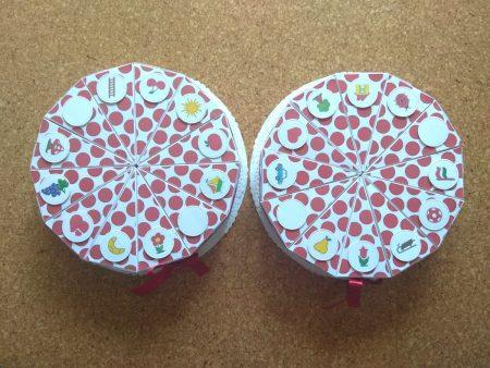 Papírtorta születésnapra - két 12 szeletes torta óvodásoknak - piros pöttyös, jelekkel - Pénzajándék